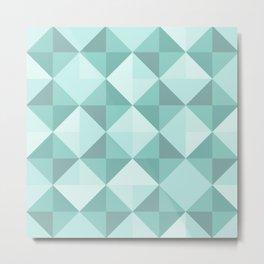 3D Green Shaded Illusion Pattern Metal Print