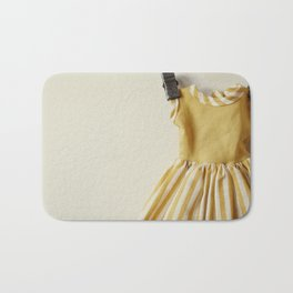 Doll Closet Series - Mustard Stripe Dress Bath Mat