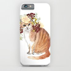 cat with flower crown Slim Case iPhone 6s