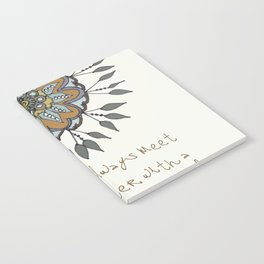 Shamuvel's mandala with a Mother Teresa Quote Notebook