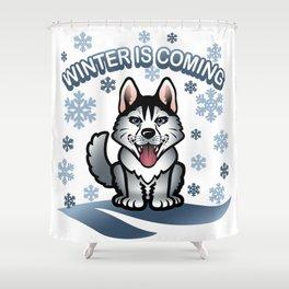Wolf winter Shower Curtain
