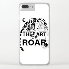 THE ART OF ROAR Clear iPhone Case