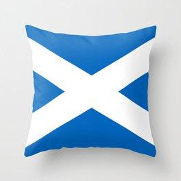 Scotland Flag Scottish Patriotic Throw Pillow