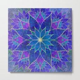 Lotus 2 - blue and purple Metal Print