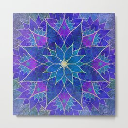 Lotus 2 - blue and purple Metal Print