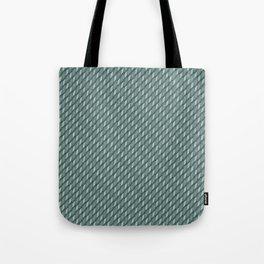 Deep Aqua Blue Cross Weave Texture Tote Bag