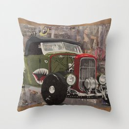 '32 Ford Roadster Warhawk Edition Throw Pillow