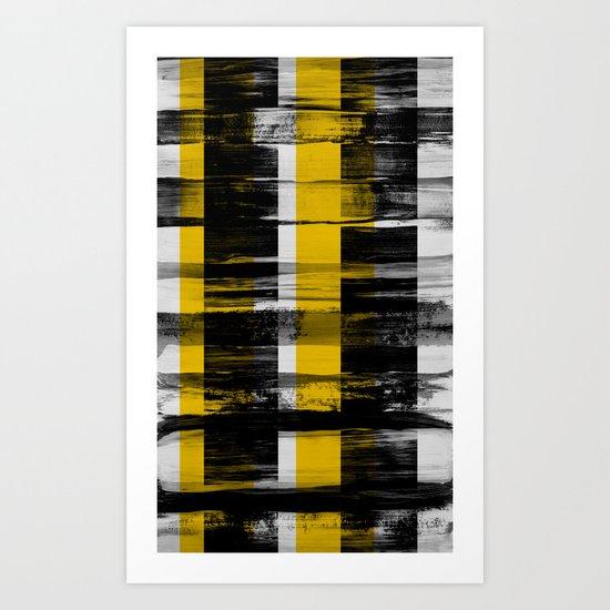 yellow.bw. Art Print