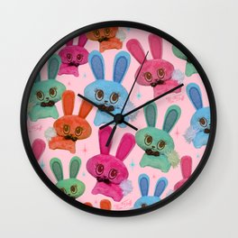 Cute Fluffy Bunnies Wall Clock