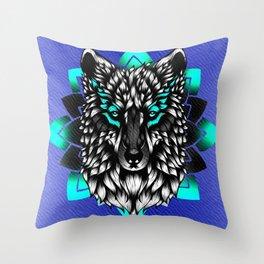 Black Wolf Throw Pillow