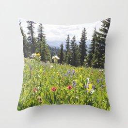 Sub-alpine Meadow Throw Pillow