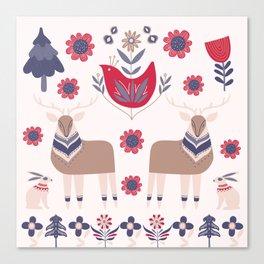 Scandinavian Winter Pattern Beige #society6 #buyart Canvas Print