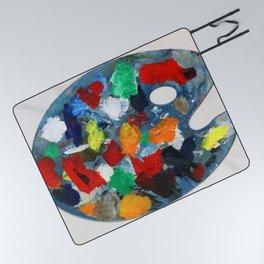 The Artist's Palette Picnic Blanket