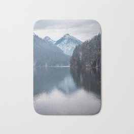 Beautiful lake, Bavarian alps Bath Mat