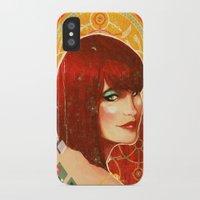 klimt iPhone & iPod Cases featuring KLIMT GIRL by Lorena Carvalho