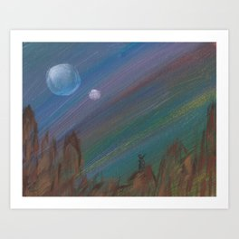 Hunting by the Light of the Traveler Art Print