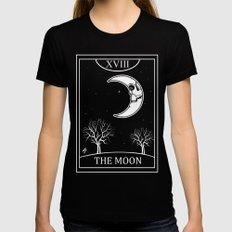 The Moon Tarot Card Womens Fitted Tee MEDIUM Black