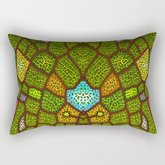 lymph colored Rectangular Pillow