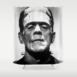 Frankenstein 1933 classic icon image, flawless, timeless horror movie classic Shower Curtain