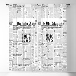 The Daily Mage Fantasy Newspaper Blackout Curtain