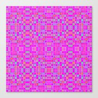 candy Canvas Prints featuring Candy Colored Pixels by 2sweet4words Designs
