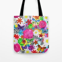 florence Tote Bags featuring Florence  by sarah illustration