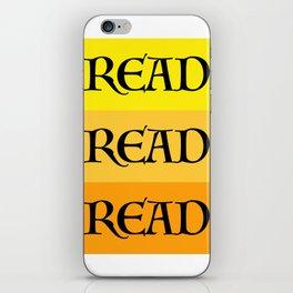READ READ READ {YELLOW} iPhone Skin
