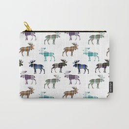 Plaid Moose Carry-All Pouch