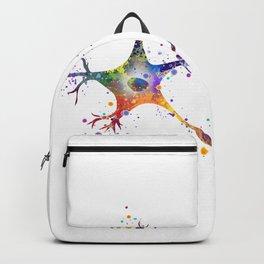 Neuron Art Brain Cell Biology Art Watercolor Neurology Medical Science Art Biology Gift Backpack