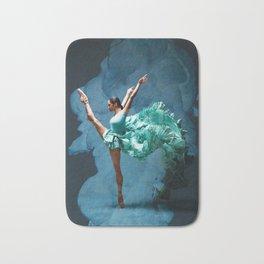 -O1- Blue Ballet Dancer Deep Feelings. Bath Mat
