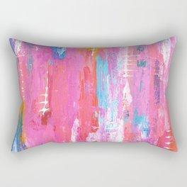 Abstract pink with fish bones Rectangular Pillow