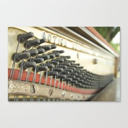 On Key Abandoned Piano Urbex, Urban Exploration, Music, Musical, Instrument Canvas Print