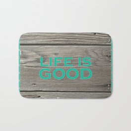 Life is Good_Wood Bath Mat