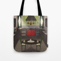 kitchen Tote Bags featuring Kitchen by Fran Court