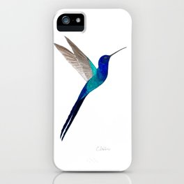 Swallow-tailed Hummingbird iPhone Case