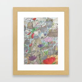 Jetsons garden Framed Art Print
