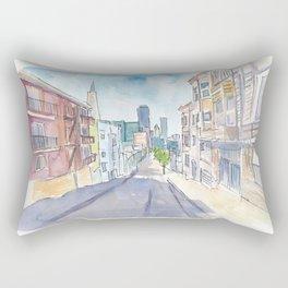 San Francisco Downtown View Street Scene Rectangular Pillow