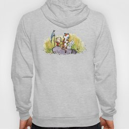 Calvin And Hobbes mapping Hoody
