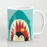 strong Mugs featuring Hi! by Jay Fleck