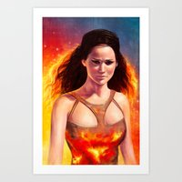 katniss Art Prints featuring Katniss by Strannaya Anna