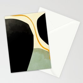 shapes organic mid century modern Stationery Cards