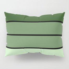 Green Stripes Pillow Sham