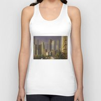 cityscape Tank Tops featuring Cityscape by Viggart