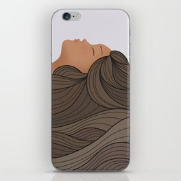 Sleeping Beauty - Wavy Hair iPhone Skin