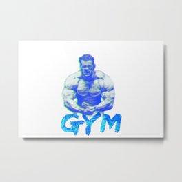 GYM. Metal Print