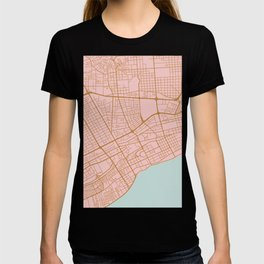 Pink Santo Domingo map T-shirt