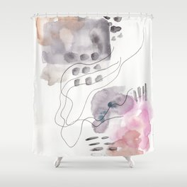 180805 Subtle Confidence 6| Colorful Abstract |Modern Watercolor Art Shower Curtain