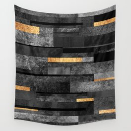 Urban Black & Gold Wall Tapestry