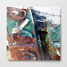Paint and Rust Metal Print