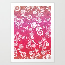 Birds, Flowers, etc. Art Print
